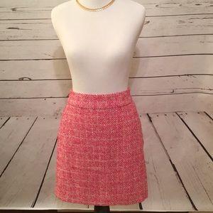 Banana Republic pink/white tweed skirt size 4